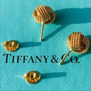 100% Authentic Tiffany & Co. Gold Knot Earrings